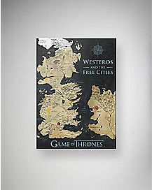 Westeros Map Game of Thrones Canvas