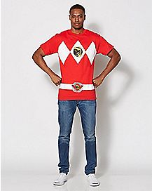 Red Power Rangers T Shirt