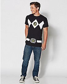Black Power Rangers T Shirt
