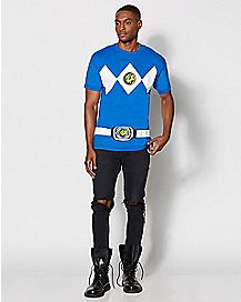 Blue Power Rangers T Shirt