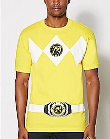 Yellow Power Rangers T Shirt