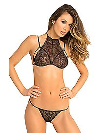 Most Wanted Lace Bra and G-String Set