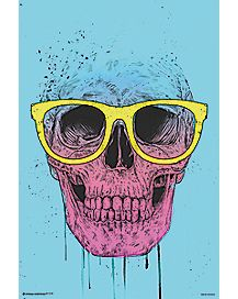 Skull With Sunglasses Poster