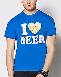 I Heart Beer T Shirt