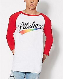 Pitcher Raglan T Shirt