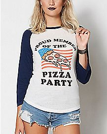 Pizza Party Member Raglan Shirt
