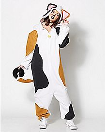 Calico Cat Kigarumi One-Piece Pajamas