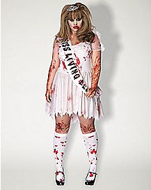 Plus Size Putrid Prom Queen Costume