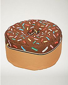 Chocolate Donut Bean Bag