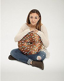 Chocolate Donut Pillow