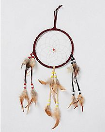Brown Beaded Dream Catcher