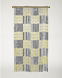 Checker Bamboo Curtain