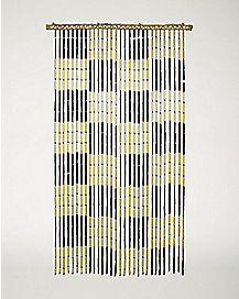 Checker Bamboo Curtain