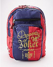 Property Of Joker Harley Quinn Backpack