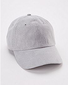 Light Gray Faux Suede Dad Hat