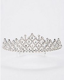 CZ Floating Tiered Tiara