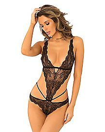 Lace Caged Teddy