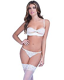 White Lace Push-Up Bra