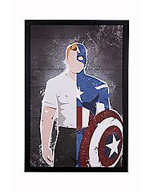 Captain America Split Wall Art