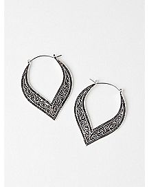 Intricate Swirl Hoop Earrings