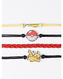 Pikachu Pokemon Bracelets 4 Pack
