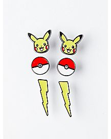 Pikachu Stud Earrings 3 Pack