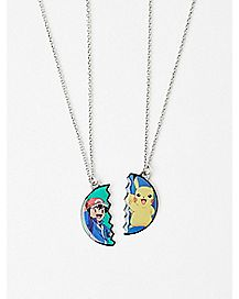 Ash and Pikachu Pokemon BFF Necklaces