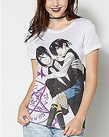 Sebastian and Ciel T Shirt - Black Butler