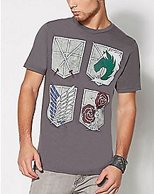 Shield Attack on Titan T Shirt