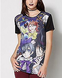 Book of Circus Group T Shirt - Black Butler
