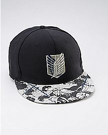 Levi & Eren Attack on Titan Snapback Hat
