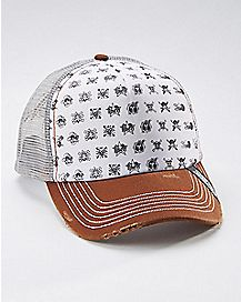 Skull Logo One Piece Trucker Hat