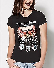 Survey Corps Shield T Shirt - Attack on Titan