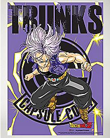 Trunks Dragonball Z Fabric Poster