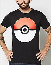 Black Pokeball T Shirt - Pokemon