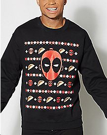 Taco Deadpool Ugly Christmas Sweater
