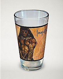 Frazetta Barbarian Pint Glass