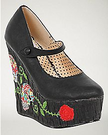 Sugar Skull Wedges