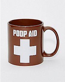 Poop Aid Mug  22 oz