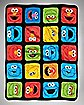 Grid Sesame Street Fleece Blanket