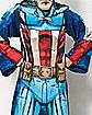 Captain America Fleece Blanket with Sleeves