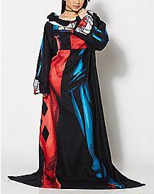 Harley Quinn Fleece Blanket with Sleeves