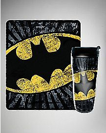 Batman Fleece Blanket and Travel Mug Set