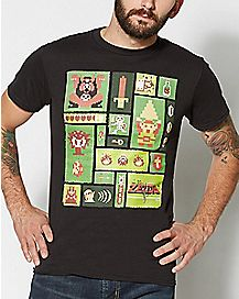 Pixel Collage Legend of Zelda T Shirt