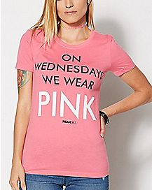 On Wednesdays We Wear Pink T Shirt - Mean Girls