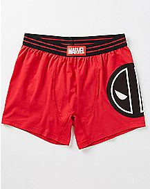 Deadpool Logo Perform Boxers - Marvel Comics