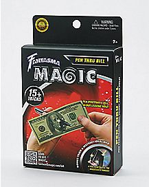 Pen Through Dollar Bill Magic Kit with DVD