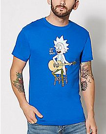Tiny Rick Guitar Rick and Morty T shirt