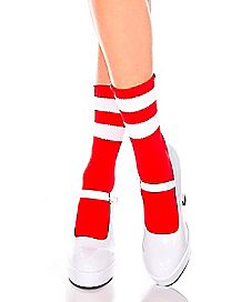 Ankle Crew Socks - Red