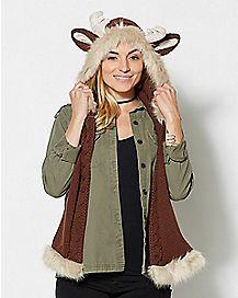 Reindeer Knitted Hood